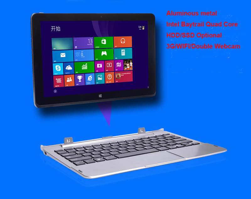 11.6 inch Intel Baytrail Laptop Computer Notebook Windows 8 Quad Core 2G 32G SSD Wifi 3G Webcam Tablet PC with Free Shipping(China (Mainland))