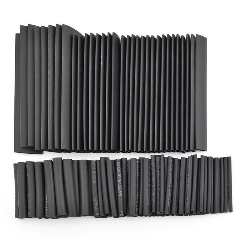 Hot Sale!!! 127pc Black Heat Shrink Tube Assortment Wrap Electrical Insulation Cable Tubing Best Promotion!!(China (Mainland))