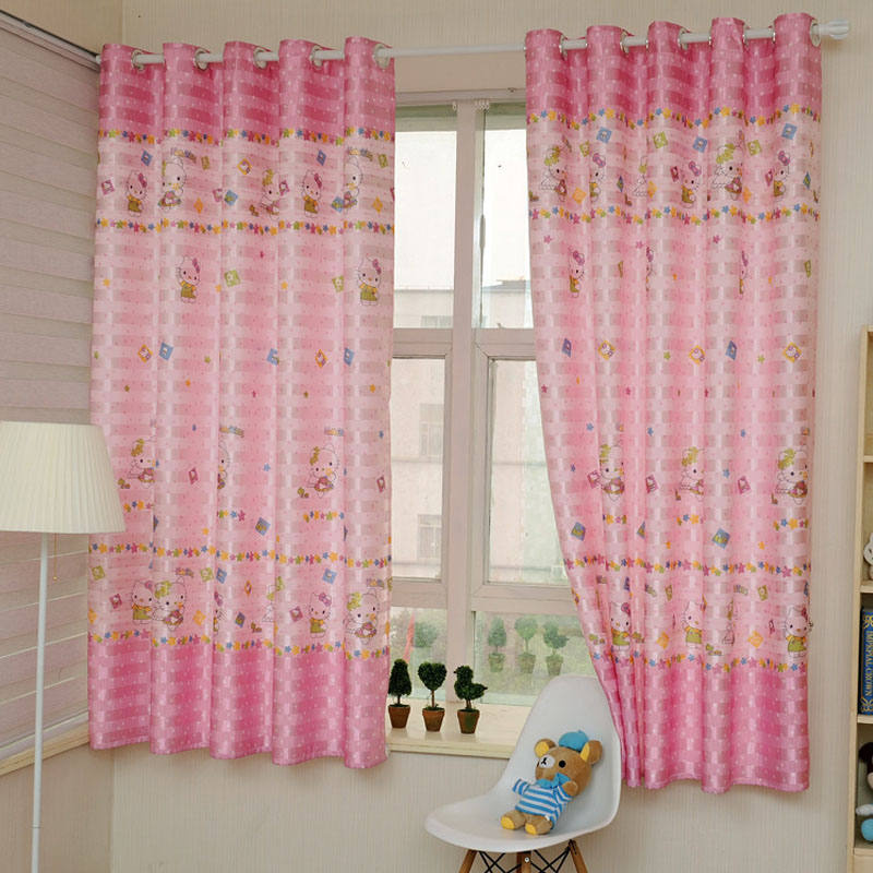 2016 Children Curtains For Bedroom 2m Cute Blackout Curtains Baby Window Free Shipping In