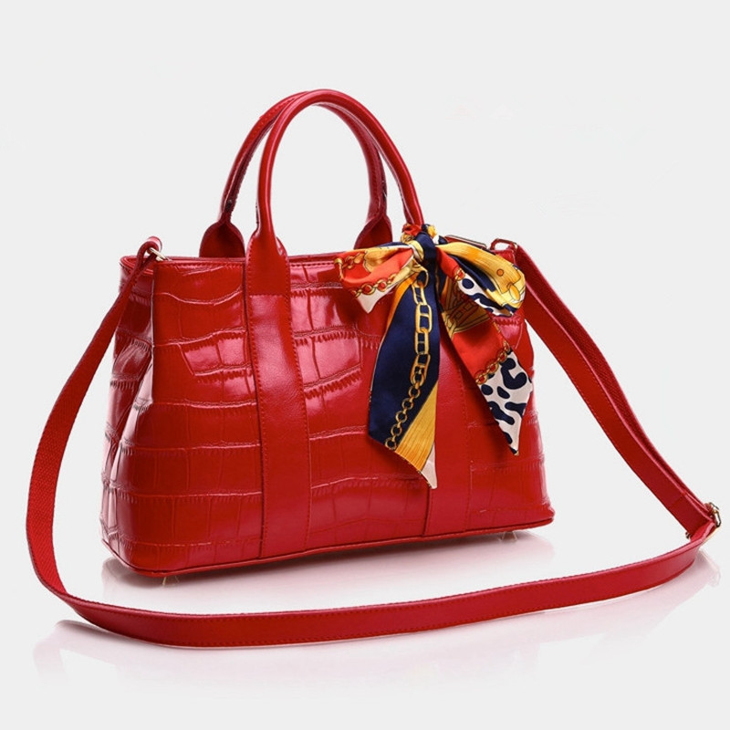 European and American Style Women Genuine Leather Handbags Stone Pattern Messenger Shoulder Bags Real Cowhide OL Style Tote Bags(China (Mainland))