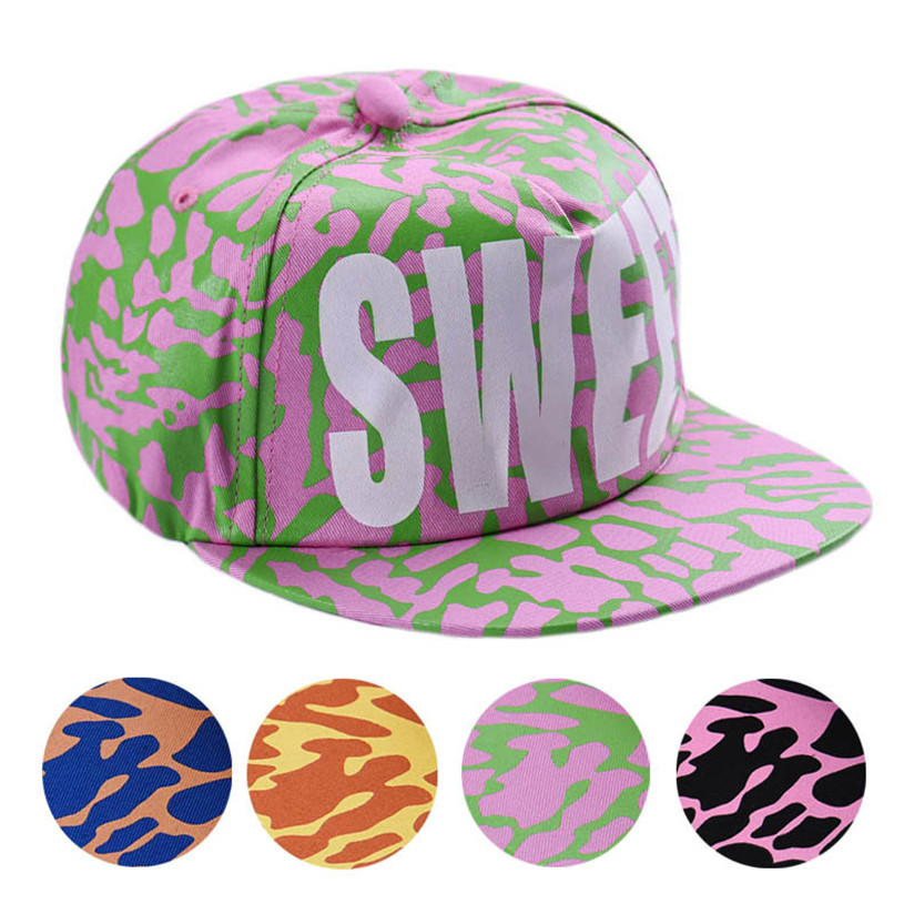 Hot Marketing Cotton Snapback Hats Fitted Baseball Cap Sweet Fluorescent Hip Hop Caps Jun21(China (Mainland))