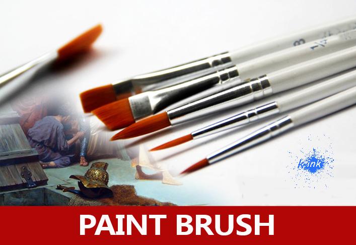 6 pcs/set , different shape nylon hair paint-brush , gouache watercolor brush for oil art painting , acrylics brush<br><br>Aliexpress