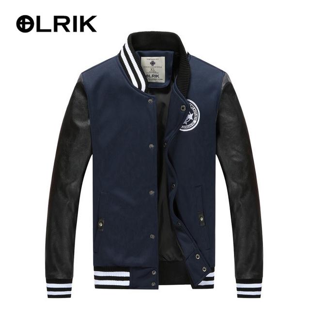 Люди OLRIK весна осень куртки бейсбол пальто женщин куртки короткие тонкие мужские ...