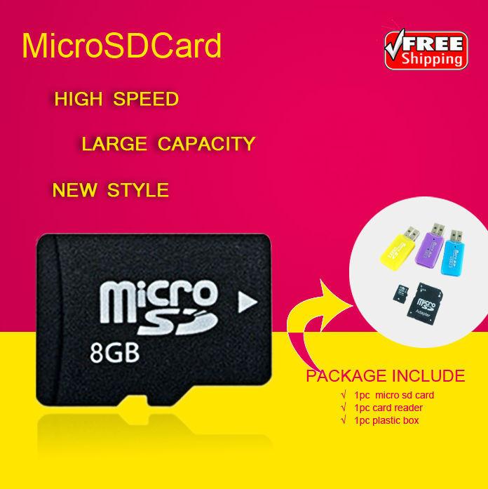 Memory Card 8GB 16GB High speed Class 10 SDHC TF Micro SD Card + reade+ adapter Gift Transflash 2GB 4GB 32GB T2(China (Mainland))