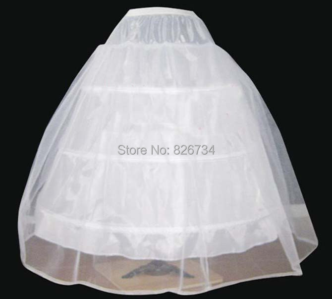 Buy cheapeat 3 hoop wedding bridal gown dress petticoat for Wedding dress hoops for sale