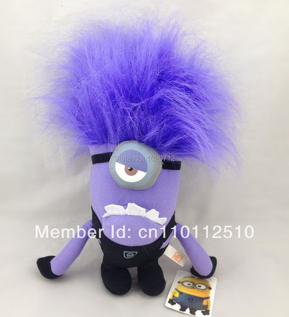 "Best Xmas Gift Despicable Me 2 Evil Minion Plush Toy 12"" One Eye Purple Stuffed Animal Doll  Best Sell"