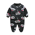 Branded Baby Rompers Pajamas Newborn Baby Clothes Cartoon Infant Fleece Long Sleeve Jumpsuits Boy Girl Warm Winter Clothes Wear