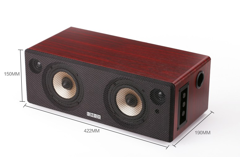 Alysea@ HIFI fever audio power wireless active speaker wooden subwoofer Cinema TV whispering gallery Bluetooth Speakers(China (Mainland))