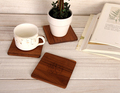 4pcs lot cup mat placemat kitchen accessories acessorios de cozinha American black walnut waterproof anti scald