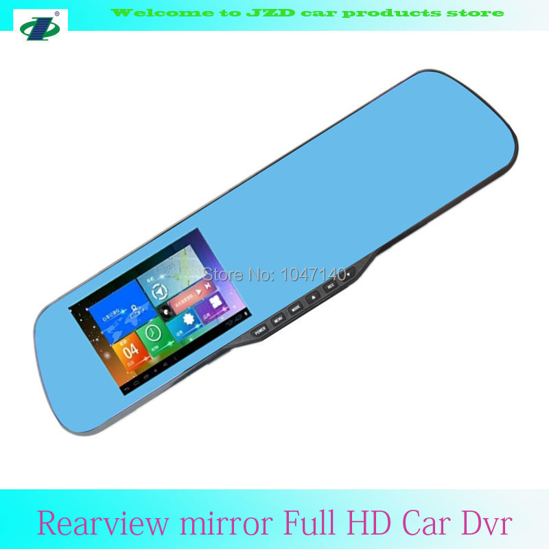 JZD Novatek 96220 4.3inch WDR Video Recorder 1920x1080 DVR Car Camera With Rearview Mirror(China (Mainland))