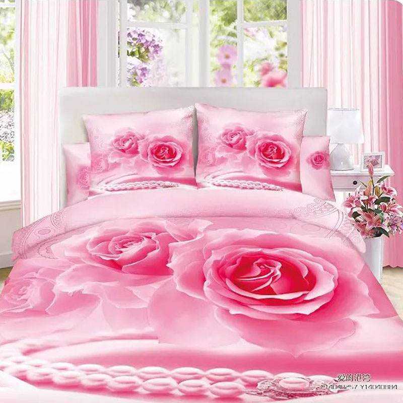buy 100 cotton duvet cover 3d bedding set bedclothes bed sheet sets set. Black Bedroom Furniture Sets. Home Design Ideas