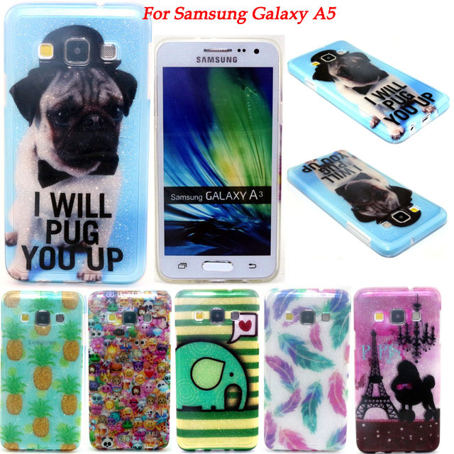 10 Colors Sparkling Glossy IMD Cartoon Soft TPU Phone Case Cover For Samsung Galaxy A5 A500 A5000 Protective Skin(China (Mainland))