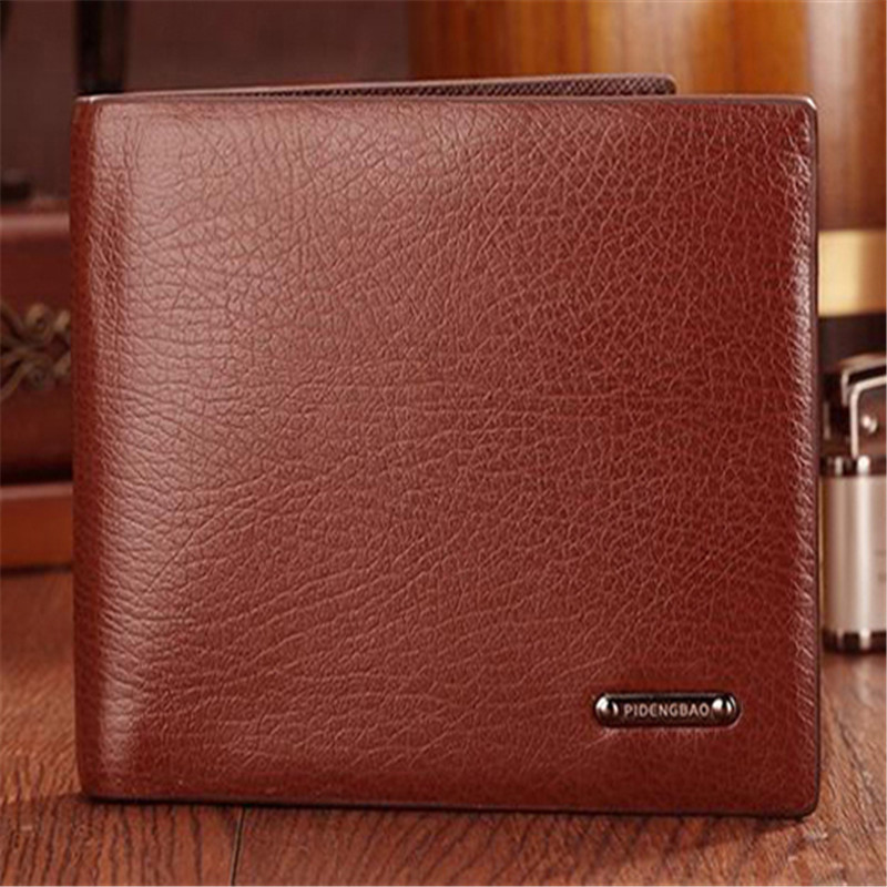 2015 Top design brand quality men leather wallet casual card holder Clutch purse clips wallets for men brown color #04<br><br>Aliexpress
