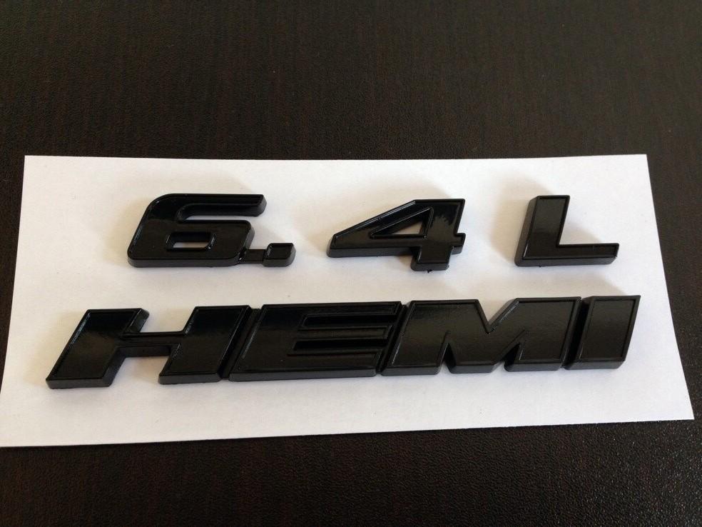 6.4L HEMI Emblem black MOPAR GENUINE OE NEW Challenger Charger 300 For Jeep Dodge Chrysler(China (Mainland))
