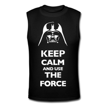 New Cheap Men Cotton Singlets Star Wars Tank Tops Keep Calm Bodybuilding Fitness Men's Sports Clothes Sleeveless Vests(China (Mainland))