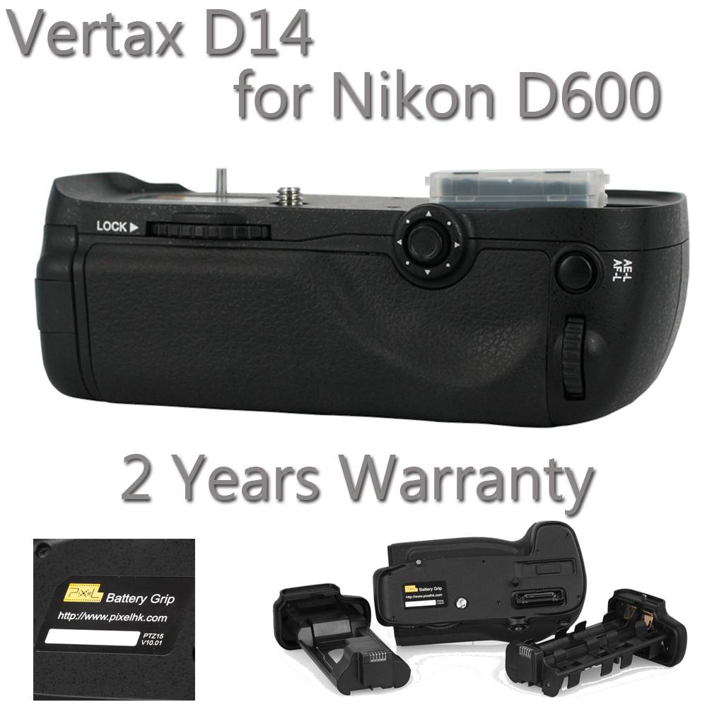 Pixel Vertax D14  Battery Grip For Nikon D600 MB-D14+2 Years Warranty