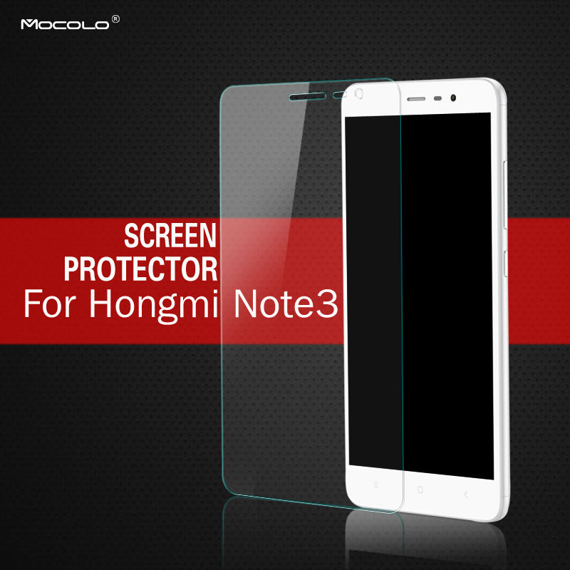 Mocolo For Xiaomi <font><b>Redmi</b></font> <font><b>Note</b></font> <font><b>3</b></font> Hongmi <font><b>Note</b></font> <font><b>3</b></font> Tempered Glass Screen Protector 0.33mm 2.5D Curved Edge with Retail Packaging