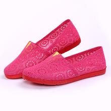 Fashion Cutout Shoes Big Size 36-40 Summer Dress Casual Deigner Women Flat Heel Shoes