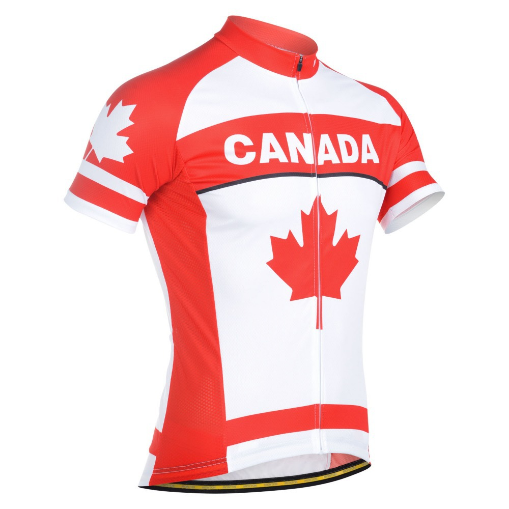 Bike Canada Shirts quot Canada Flag quot Cycling jersey