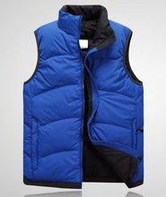 Branded Men's Winter Down Waistcoat 90% White Duck Down Padded Vest Men Stand Collar Branded Down Vest Men  VT-150(China (Mainland))