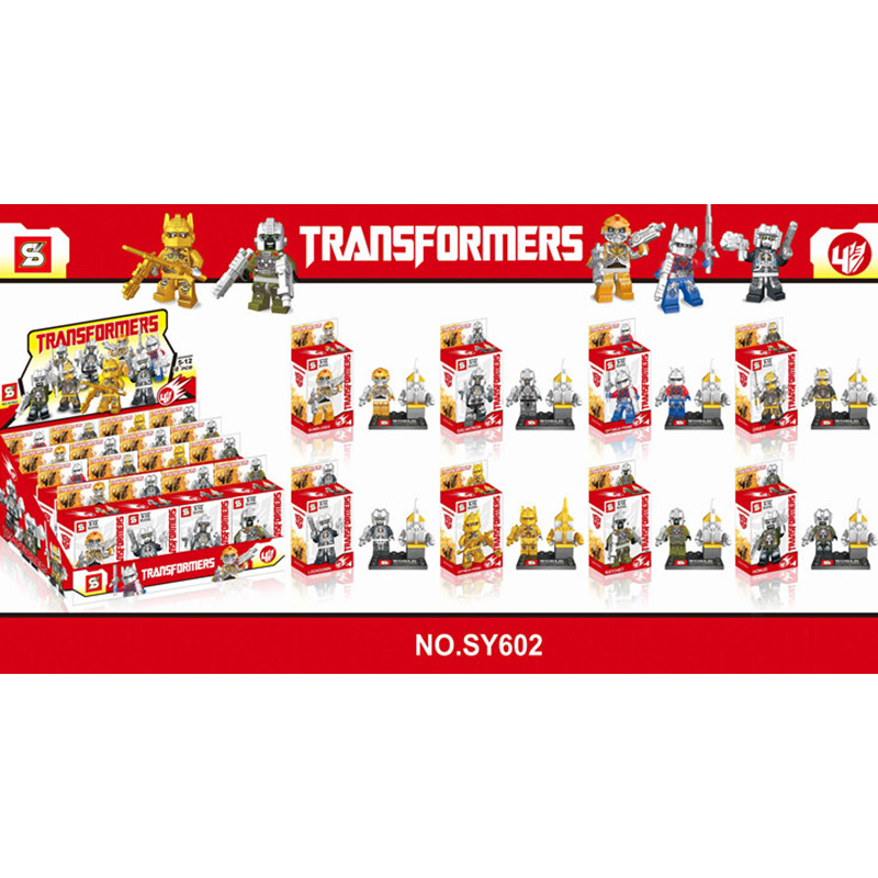 SY602 8Pcs/lot Building Blocks Transformation Robot Bird Head Minifigures Bricks Classic Toys For Kids(China (Mainland))