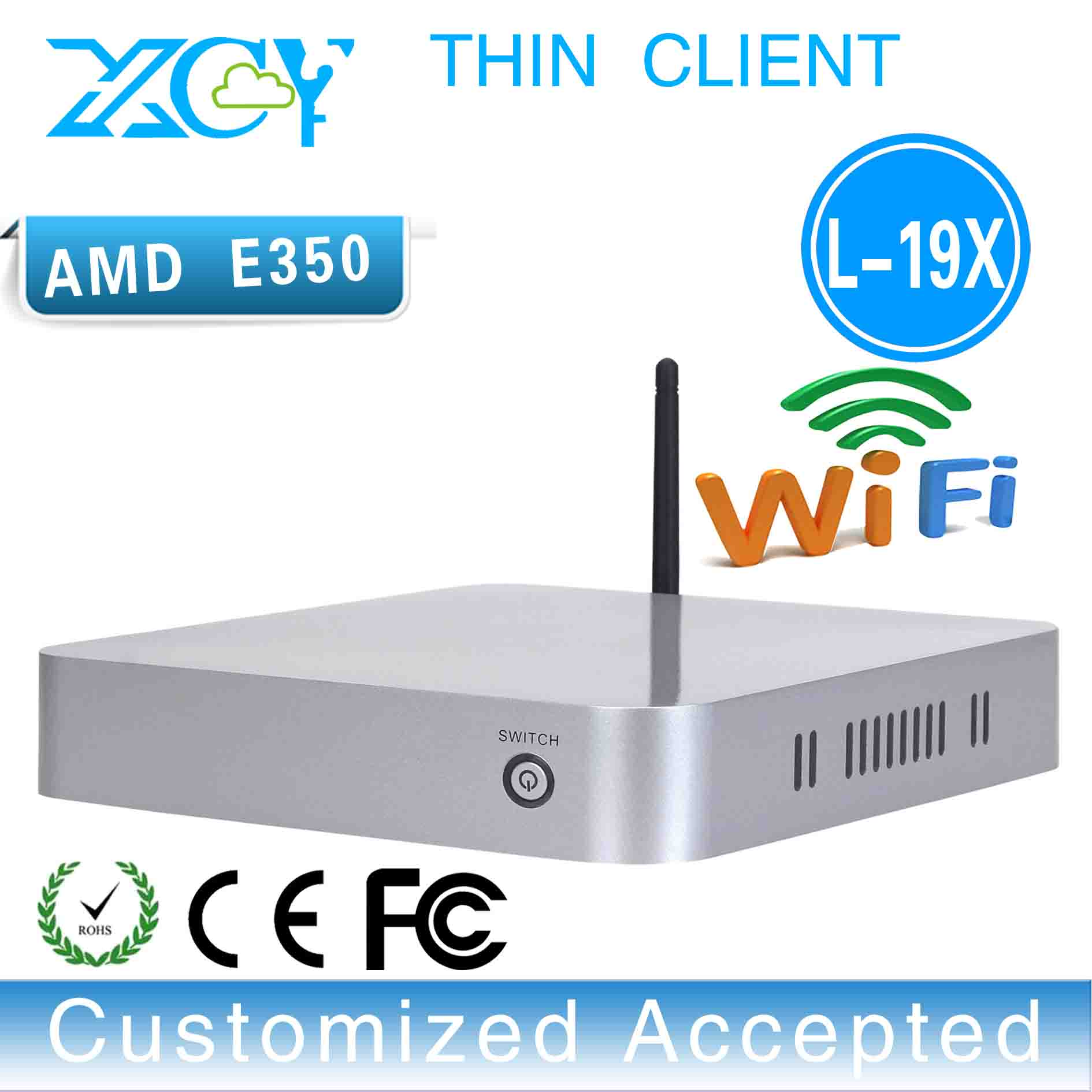 XCY L-19X AMD E350 Desktop Machine Support Wireless Keyboard, Mouse And Touch Screen Thin Client(China (Mainland))