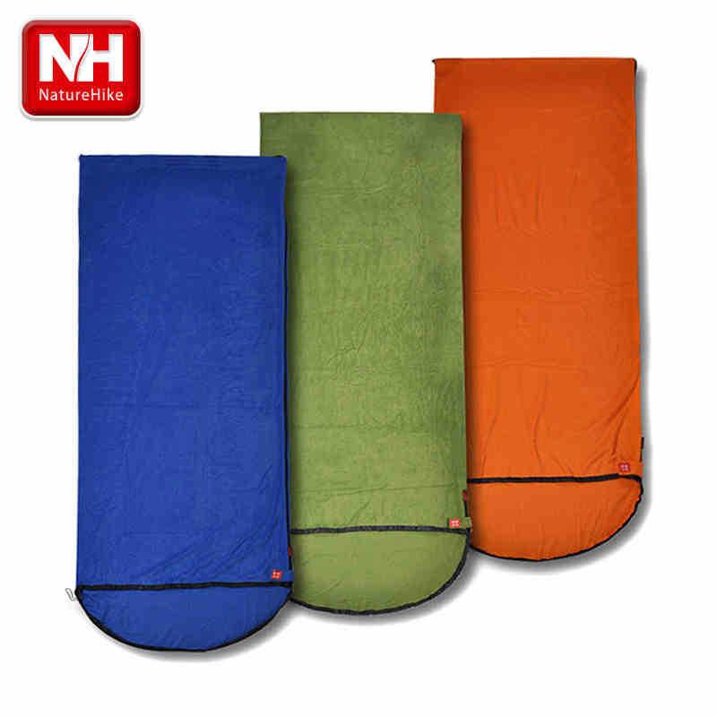 NEW!!Camping Adult Fleece Sleeping Bag Bule Green Red Ultra-light sleeping bag 2.15*0.75m -NatureHike(China (Mainland))
