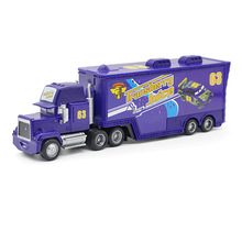 A01-0325 Funny Pixar Cars diecast figure toy Alloy Car Model for kids children Toy- purple color Container truck NO.63