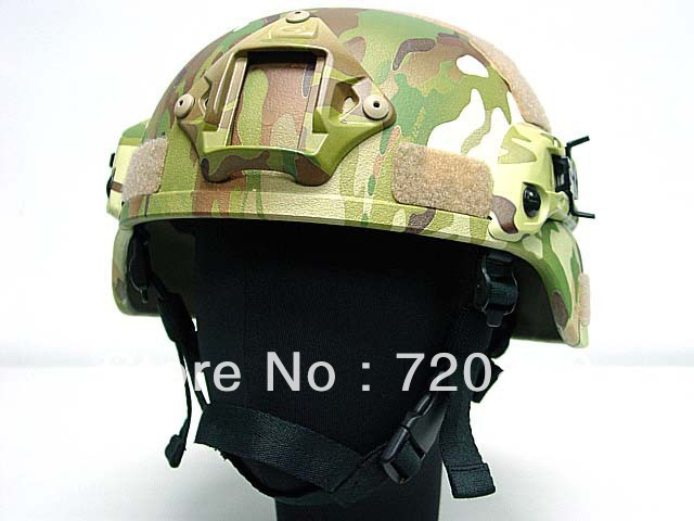 MICH TC-2000 ACH Helmet with NVG Mount &amp; Side Rail Multi Camo<br><br>Aliexpress