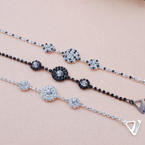 Fashion bridesmaid dress chain underwear pectoral girdle double-shoulder rhinestone shoulder strap wedding dress crystal(China (Mainland))
