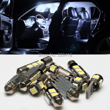 Free shipping,10 pcs White Canbus SMD LED Bulb Interior Light Kit For Volvo V70 V70R 1998-2007(China (Mainland))
