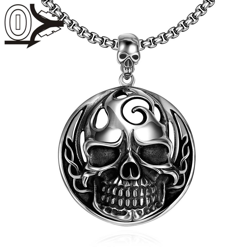 N024 Titanium fashion chain free 316L stainless steel vintage pendant necklace For Men Vintage Punk Bike Style Male Necklaces(China (Mainland))