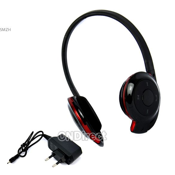 New BH 503 Stereo Bluetooth Headset Headphone Earphone With EU Plug Adapter -in Earphones