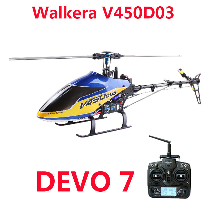 Original Walkera V450D03 With Devo 7 Transmitter 6CH 3D 6-axis-Gyro Flybarless RC Helicopter With Battery and Charger RTF<br><br>Aliexpress