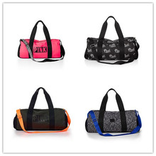 AG246 VIP$14.5 SPORT fashion woman lady gir cotton canvas Duffel Travel Bag sport bag Gym Bag Weekend Bag handbag VSP pink green(China (Mainland))