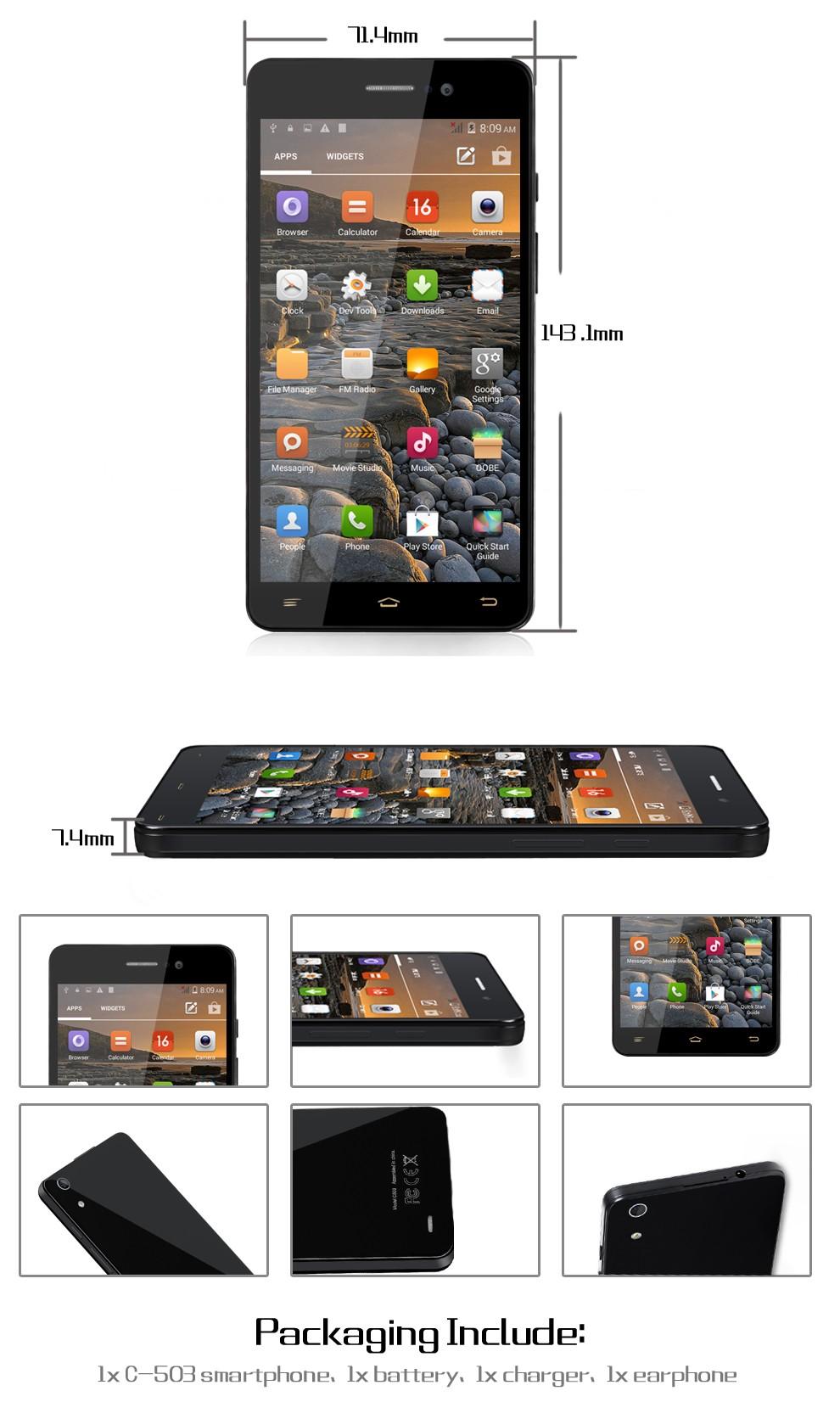 "ONN 5.0 Inch Original "" Smartphone MTK6582 Quad Core Android 4.4.2 1GB RAM 8GB ROM 1280*720 Dual SIM cards 3G GPS WIFI Alina"