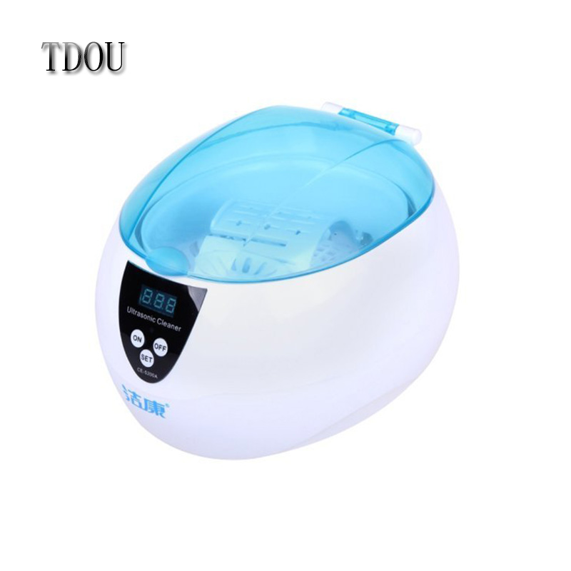 TDOU CE-5200A Professional Digital Ultrasonic Jewelry & Eyeglass Cleaner Cleaning Machine with Time Setting Free Shipping(China (Mainland))