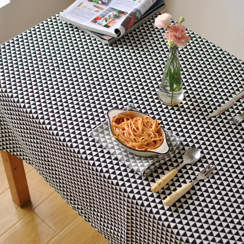 2016 New Sale Home Party Tablecloth Geometric Modern Style Rectangle Cotton Table Covers Dinner Office Tables Clothes(China (Mainland))