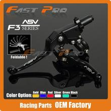 Alloy ASV F3 Series 2ND Clutch Brake Folding Lever Fit Most Motorcycle ATV Dirt Pit Bike Modify parts Spare Parts Free Shipping(China (Mainland))