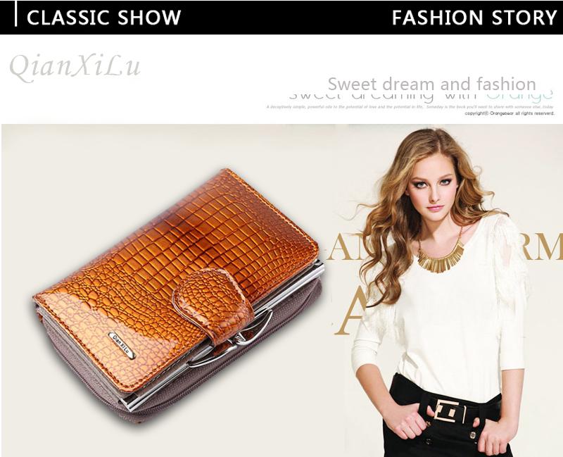 HTB1zWV7QVXXXXXCXXXXq6xXFXXX0 - Fashion Real Patent Leather Women Short Wallets Small Wallet Coin Pocket Credit Card Wallet Female Purses Money Clip Gold color