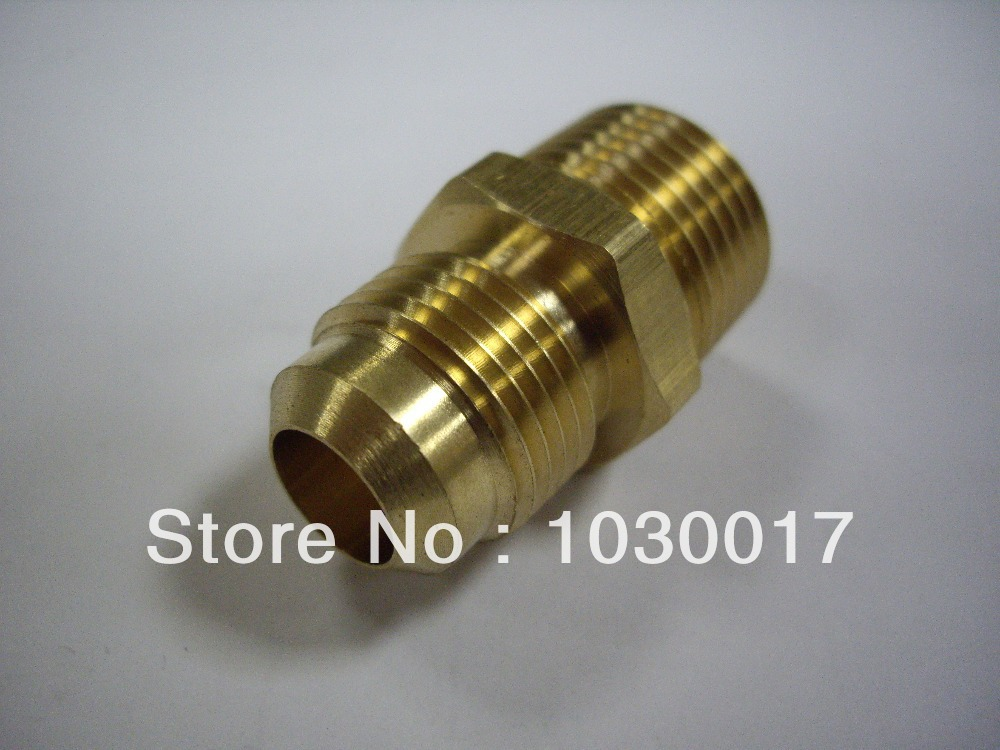 Pack of brass quot o d flare male npt