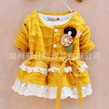 Wholesale Spring new arrival children's clothing,kid's dress girls's dress lace dress