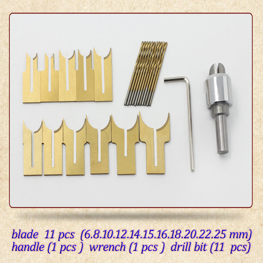 24pcs / set alloy ball knife diy woodworking tools wooden beads drill rosary bead molding 6/8/10/12/14/15/16/18/20/22/25mm(China (Mainland))