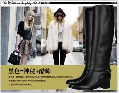 2016 Europe style fall/winter Round Toe nail boots Fashion rivets flat boots knee high boots Part of the free shopping(China (Mainland))