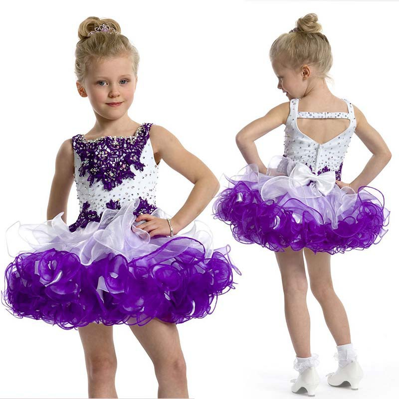 Popular Toddler Pageant Dress Purple-Buy Cheap Toddler Pageant ...
