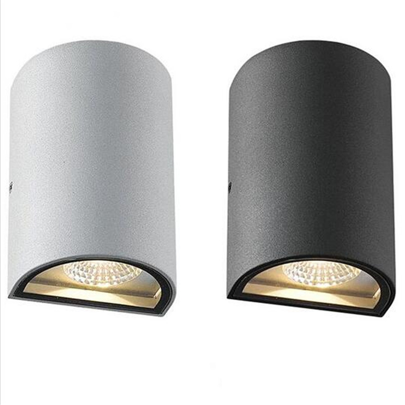 Free Shippin Aluminum Tube 14W Dimmable LED Wall Light Outdoor LED Spot Lights 85-265V 2X7W LED COB Wall lamp Warm White Buy Now(China (Mainland))