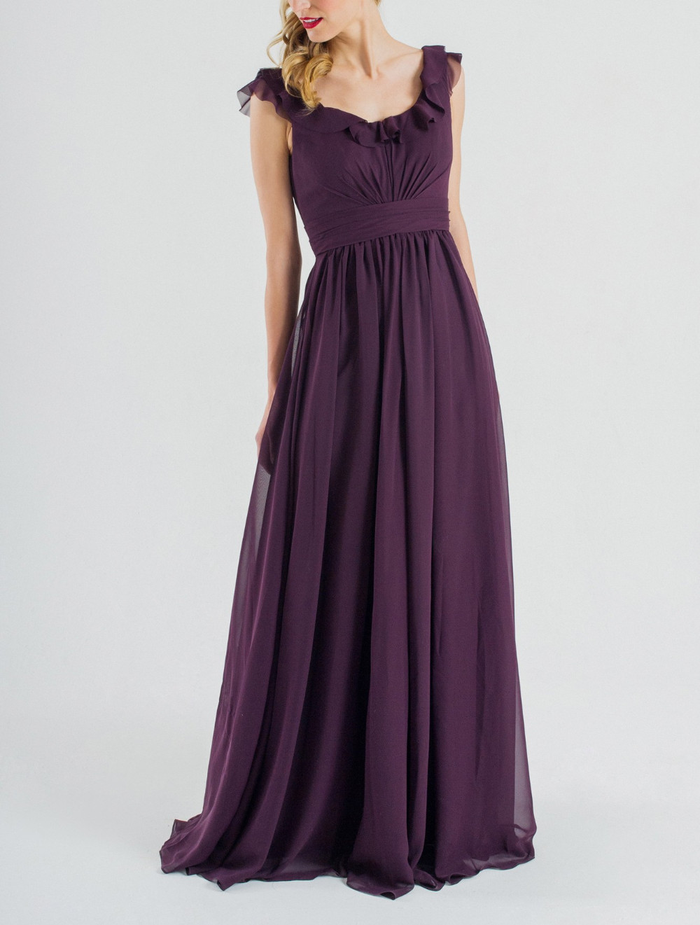 2016 elegant cheap purple scoop neck bridesmaid dresses for Cheap chiffon wedding dresses