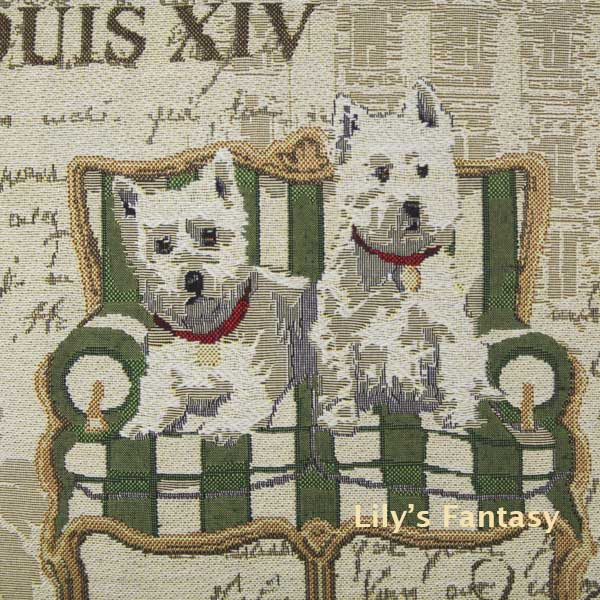 Retro Vintage West Highland White Terrier Dog Home Decorative Thick Knitted Cotton Linen Pillow Case Cushion