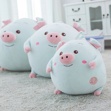 Buy Blue Fat Pig Plush Toys Kid Small Pig Doll Stuffed Soft Pillow Cushion Kids Girls Birthday Christmas Gift for $25.99 in AliExpress store