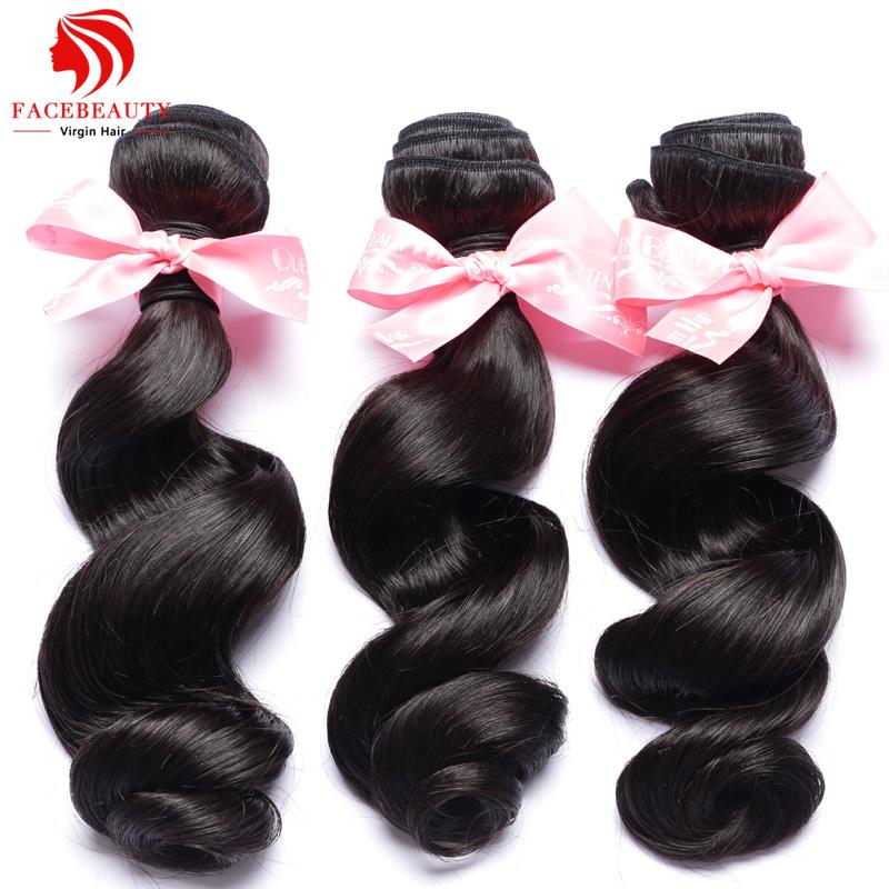 FaceBeauty Hair Products Indian Virgin Hair Loose Wave 3pcs Lot Indian Loose Wave Hair Cheap 100% Unprocessed Human Hair Weave(China (Mainland))